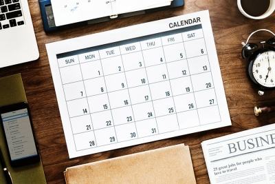 Tax Diary August/September 2018